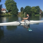 New adaptive boat 'Rigel' on the water