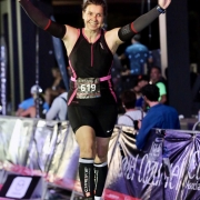 Julia Harrison-Lee finishes her second Ironman challenge.