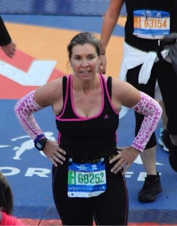 Julia Harrison-Lee completing her third marathon