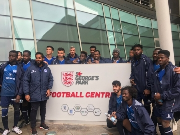 Members of the refugee / asylum seeker team at St. George's Park